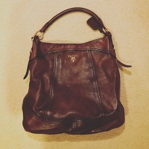 6be7d084c2a2 Women s Prada Brown Leather Shoulder Bag on Poshmark
